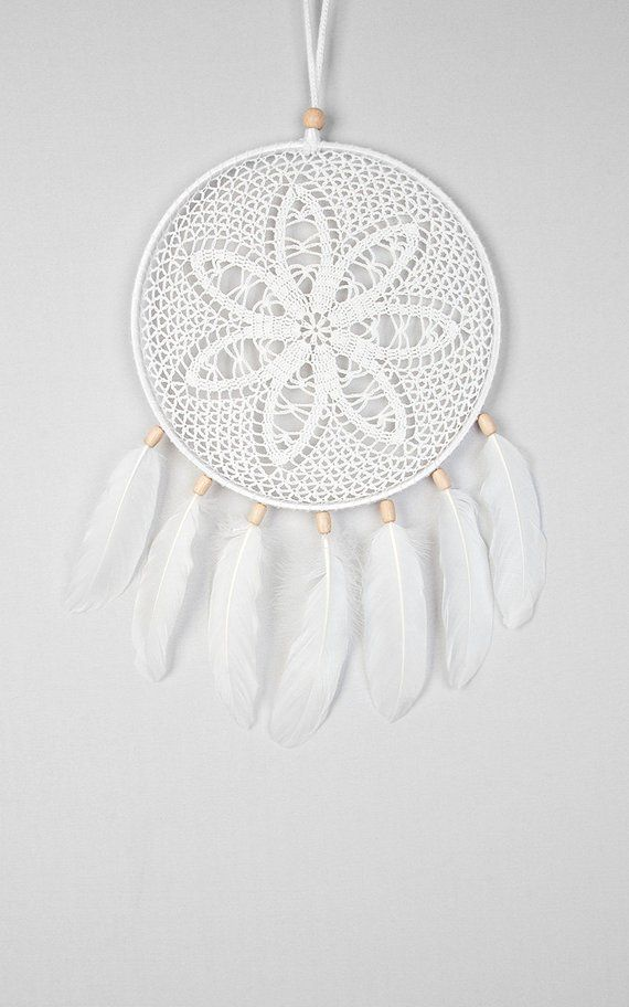 Dreamcatcher White Dream Catcher Crochet Doily Dreamcatcher white ...
