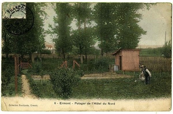 Potager de l'Hôtel du nord à Ermont, carte postale /©Musée du Vivant-AgroParisTech