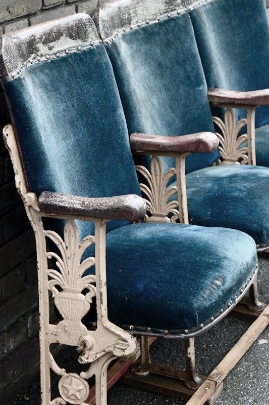 blue-theatre-chairs - Once Wed