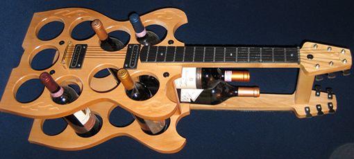 Guitar Wine Rack www.dispedisa.com/info-util/accesorios-para-vino