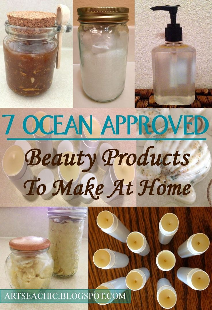 ArtSea Chic: 7 Natural Ocean Approved Beauty Products To Make At Home