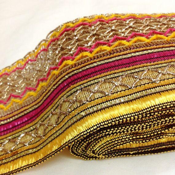 Multi Color Gota Ribbon Gota Patti Border Gota by DesiFabrics, $4.25