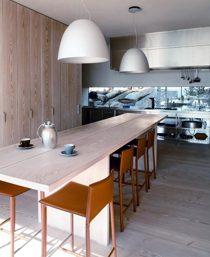 Modern House in Metal Frame