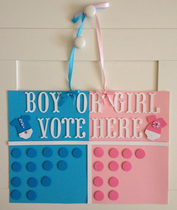 Gender reveal game baby shower game gender by TwinkleStarParty