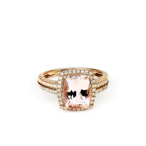 Diamant,  Rose d'or,  Morganite, Jewelry, Fine,  Rose Gold,  Ring,  Engagement,  Tote,  LaNae
