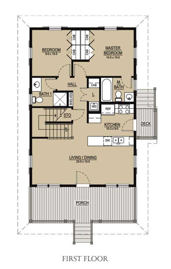 cottage style house plan 3 beds 3 baths 1413 sqft plan 536 - Katrina Cottage Plans