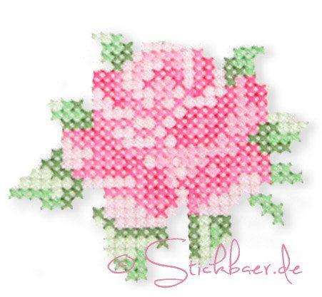 Handmade with Roses Cross stitch Machine by DerStickbaer on Etsy, €9.00