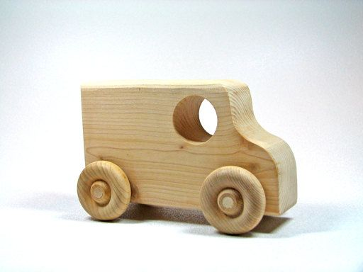Children's Wooden Toy Car by littlewoodenwonders on Etsy, $6,00