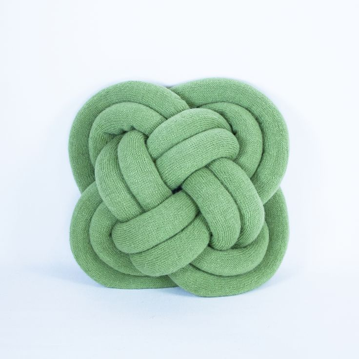 Turk Head Cushion Green Handmade Icelandic NotKnot Cushion http://www.vokuro.co.uk/