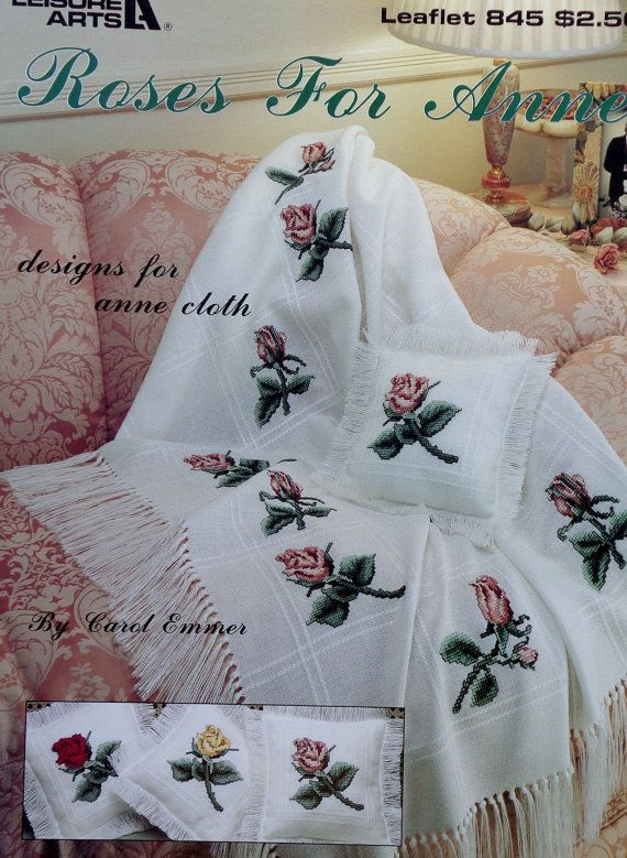 Carol Emmer Roses For Anne Cloth By Leisure Arts Counted