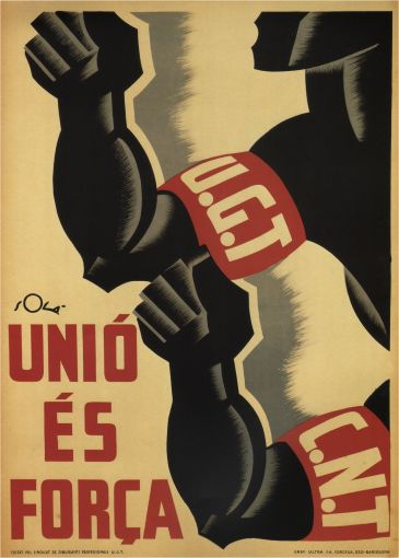 By Sola, 1 9 3 6, Union is strength. (Spain)
