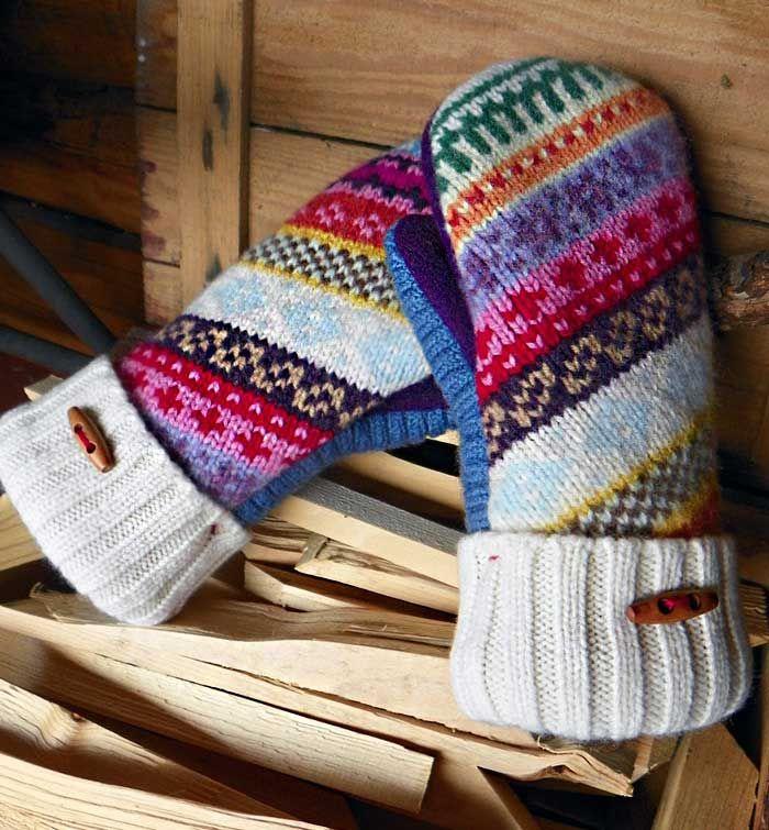 Рукавицы и варежки из старого свитера