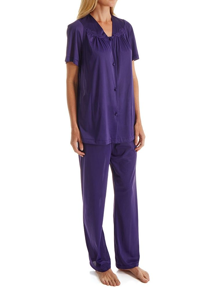Exquisite Form Women S Vanity Fair 90107 Coloratura Vintage Pajama Set Walmart Com Short Sleeve Pajama Set Vintage Pajamas Pajama Set