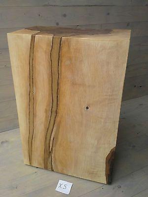 Holzsäule Sitzblock Hainbuche Klotz Cube Hocker Massivholz Sitzklotz Holzklotz
