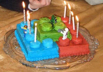 Lego birthday cake - my boys would love this!