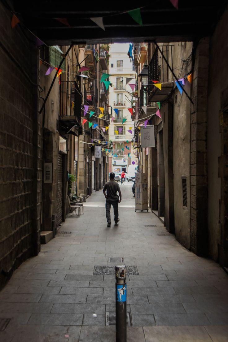 Gothic Quarter, Barcelona, Streets, Alley, Chiaroscuro
