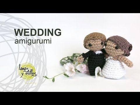 Free Bride and groom Wedding amigurumi | Lanas y Ovillos