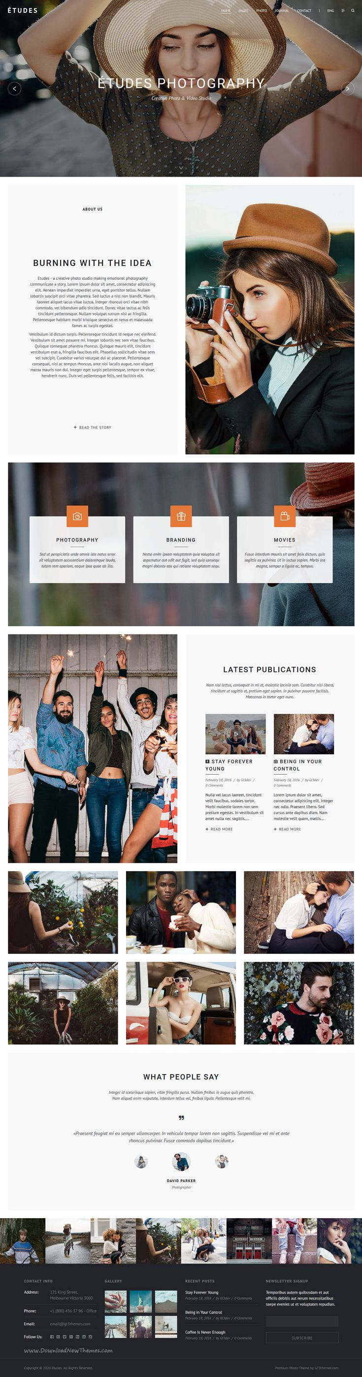 Etudes is carefully crafted 5 in 1 WordPress theme for #creative #photography #website. Download Now!