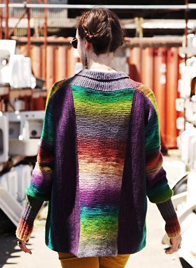Agata cardigan: Deep Fall 2013 (but I think I'd just do the back panel in variegated yarn)