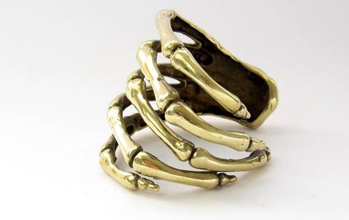 Skeleton hand bangle