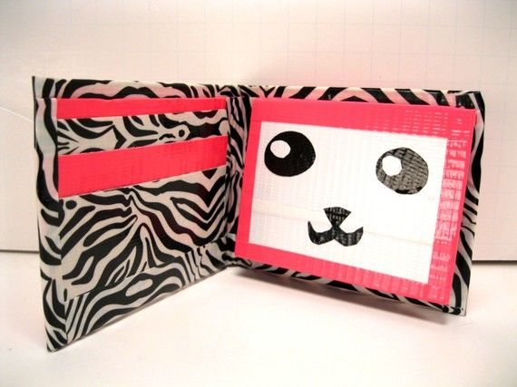 cutetst duct tape wallet everr! wish i could make that!!