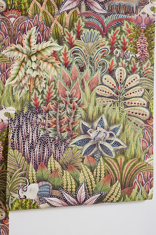 Lush Wildlife Wallpaper | Anthropologie