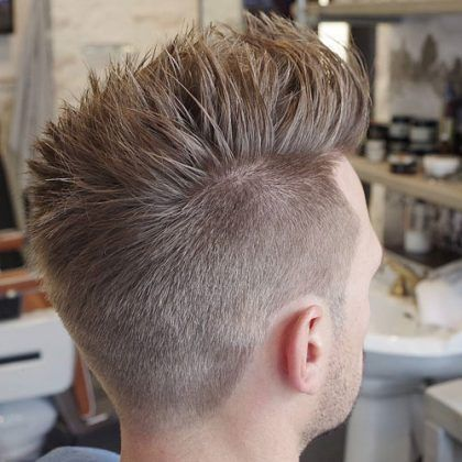 Faux Hawk with Taper Fade Sides