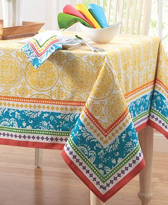 Colordrift Spring Remix Table Linens Collection