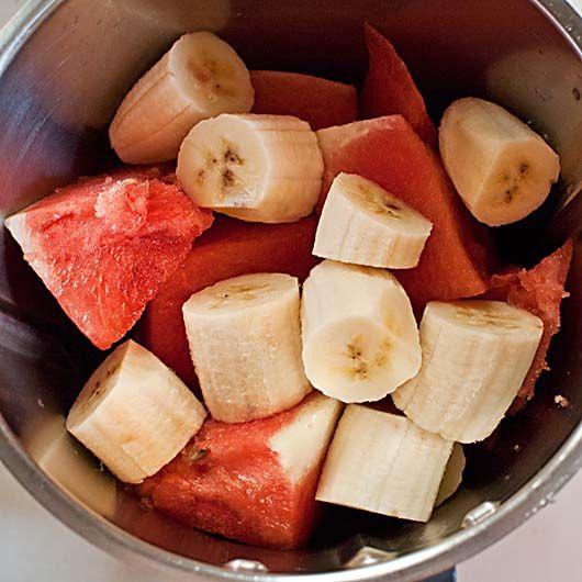Smoothie de sandía y plátano, batidos de frutas con Thermomix « Trucos de cocina Thermomix
