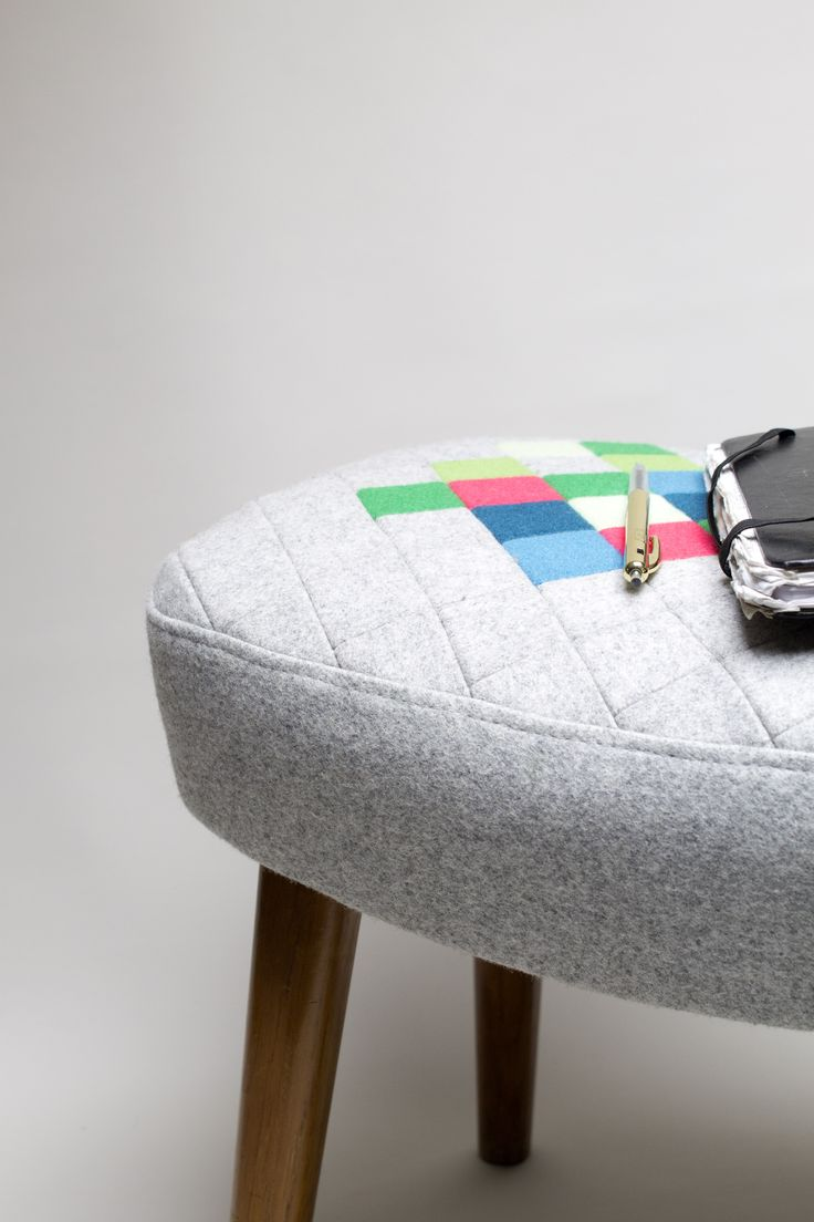 Cool foot stool with colourful patchwork design www.etsy.com/shop/palsbyognash