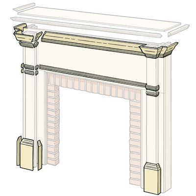 Illustration: Gregory Nemec   thisoldhouse.com   from How to Build a Wood Mantel