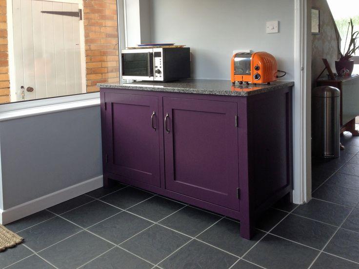 Purple kitchen cabinets!  www.instagram.com/hallwoodfurniture