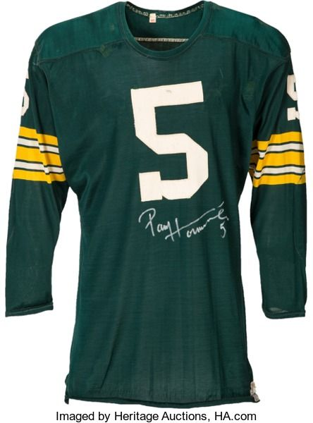 Football Collectibles:Uniforms, Early 1960's Paul Hornung Game Worn Green Bay Packers Jers...