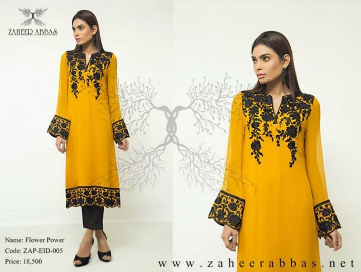 Zaheer Abbas Formal Eid Dresses 2015 For Girls (10)