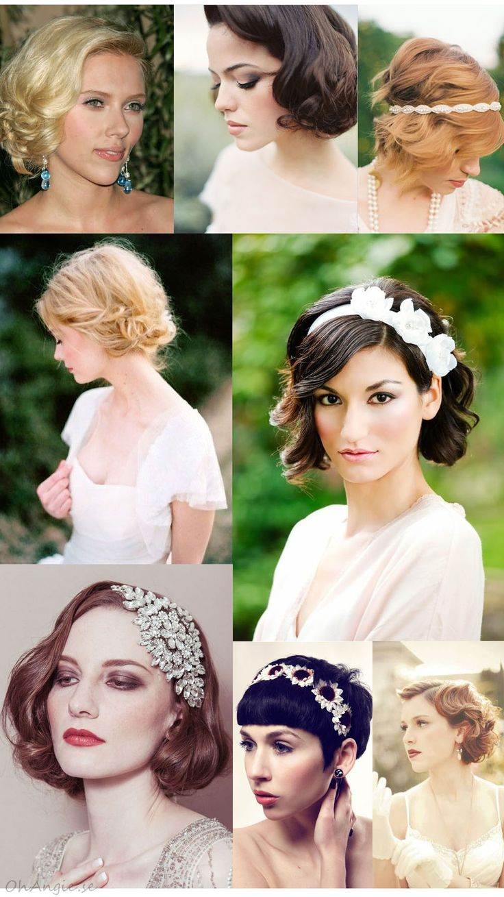 Bröllopshår för kort hår / Wedding hair styles for short hair