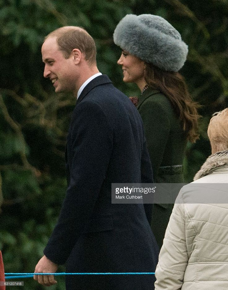 fromberkshiretobuckingham:  Sunday Morning Service, St. Mary Magdalene Church, January 8, 2017-Duke and Duchess of Cambridge; the Duchess wore her green Sportsmax coat and a new fake fur hat