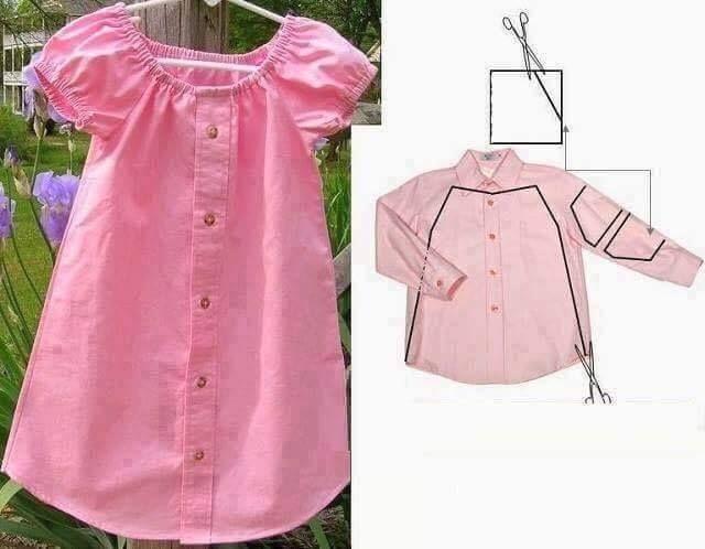 Möglichkeiten, Kinderkleidung aus ungenutzten Hemden herzustellen – Ev Düzenleme