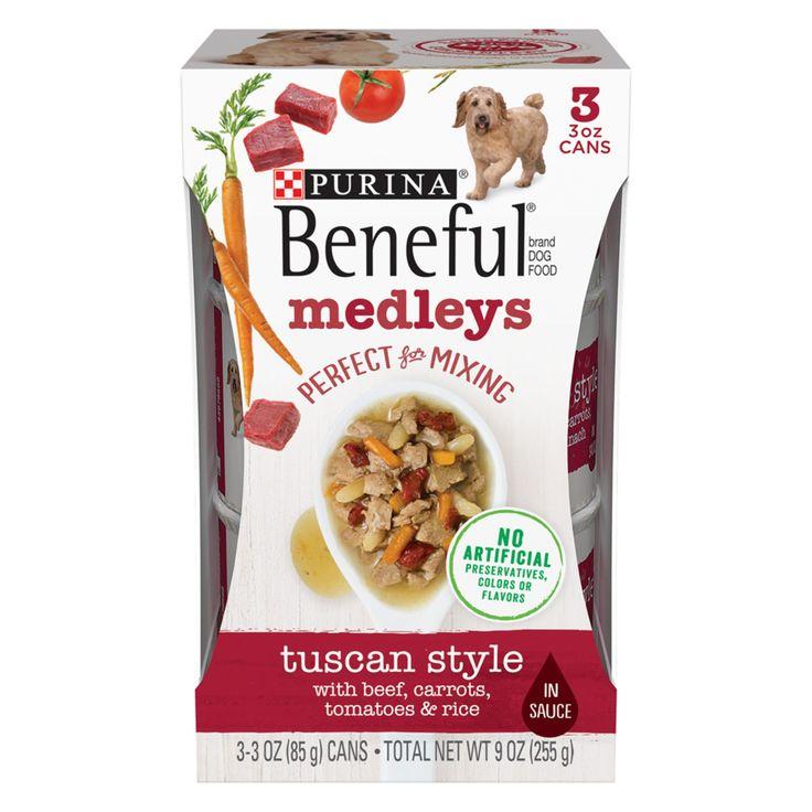 Purina Beneful Medleys Dog Food Tuscan Style 3ct Size 3 Oz