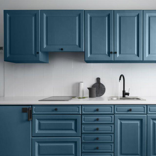 Peinture Cuisine Meuble Et Credence Decolab V33 Bleu Petrole Satine 2 L Peinture Meuble Cuisine Peinture Cuisine Renovation Meuble Cuisine
