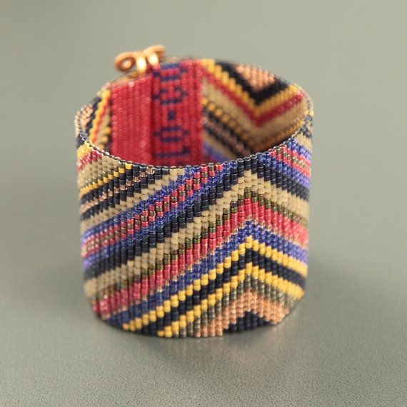 Bosque metálico grano violeta telar brazalete pulsera estilo americano nativo…