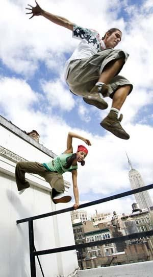 "When #Parkour says ""Jump,"" you don't say anything because you're busy jumping!"