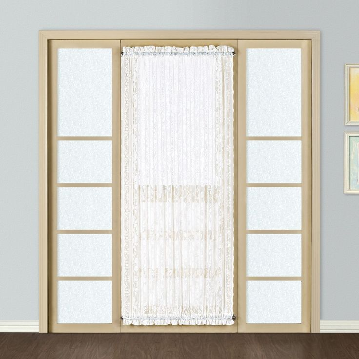 Windsor Door Rod Pocket Sheer Single Curtain Panel
