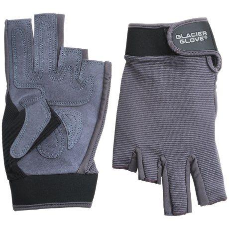 Glacier Glove Fingerless Stripping/Fighting Sun Gloves - UPF 50+ (For Men and Women))