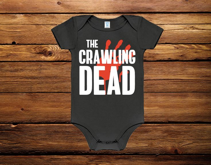 HALLOWEEN BABY OUTFIT, halloween outfit, baby halloween shirt, the crawling dead, zombie baby, zombie, baby halloween costume, baby costume by LovenbirdDesign on Easy  I totally need this when I have a baby!