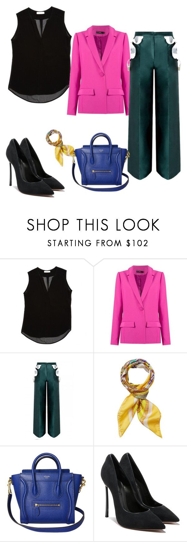"""""""Fashion Design Teacher Report Card Day"""" by zuleyha5308 ❤ liked on Polyvore featuring Sandro, Andrea Marques and Versace"""