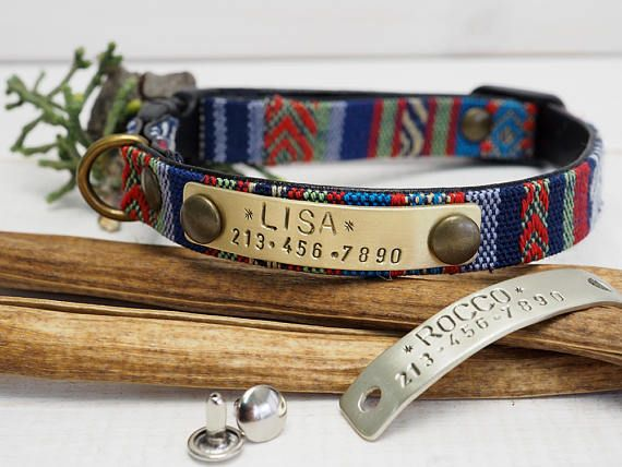 Cat collar Personalized Cat collar Small Dog Collar ID tag