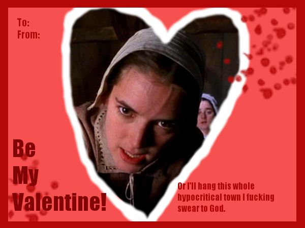 abigail williams valentine john proctor fyi he s dead because  abigail williams valentine john proctor fyi he s dead because of you stay out of stinky guys life fun 1st 6 weeks stuff