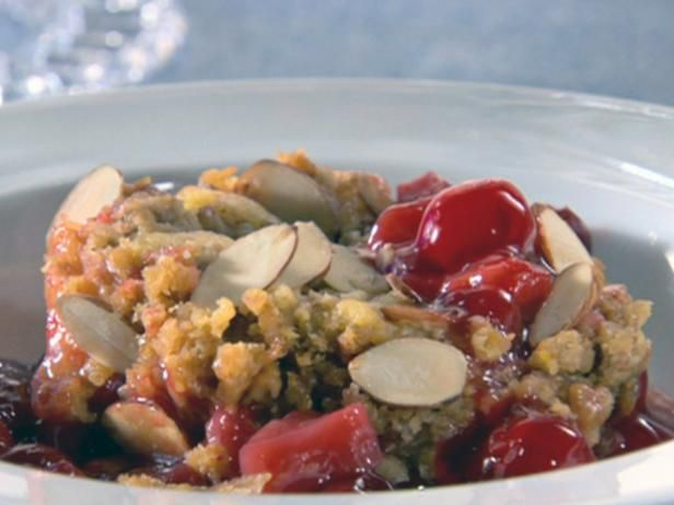 Get Pear and Cherry Buckle Recipe from Food Network