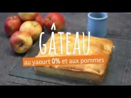 Gâteau aux yaourts 0% et aux pommes