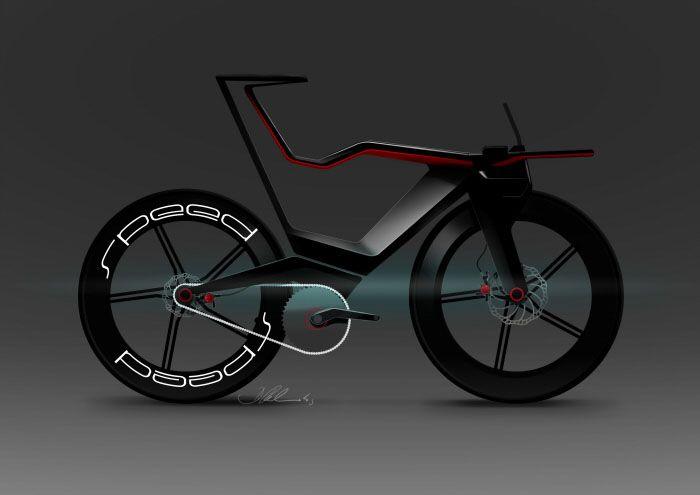 Time trial bike concept rendering by German designer Dennis Redmonds